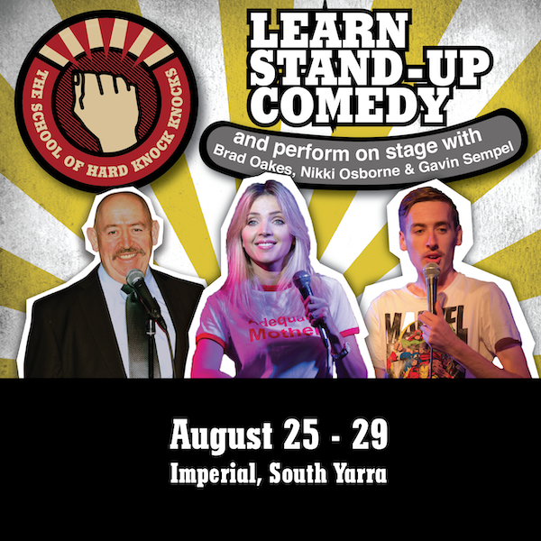 Learn stand-up comedy - Melbourne - August 2019