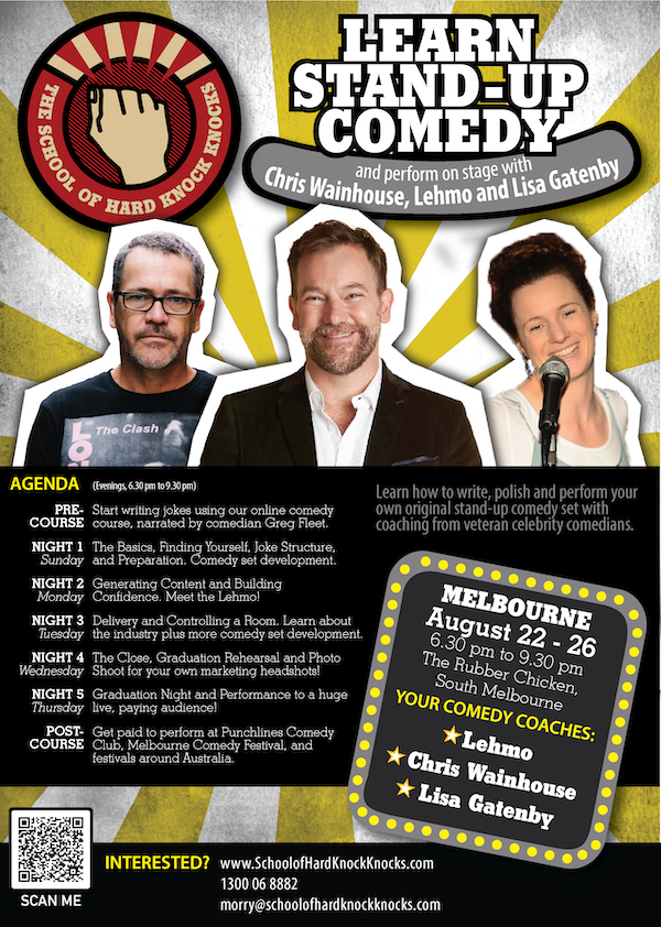 Learn stand-up comedy in Melbourne this August with Lehmo